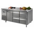 GNTC700 L1 D4 | Pracovný stôl s dvierkami a 4 zásuvkami