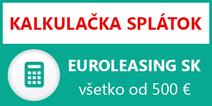 euroleasing kalkulačka splátok